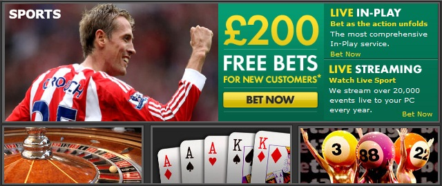 Bet365 Sports Betting - Free Bets £200