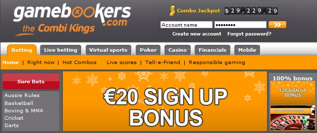 Gamebookers Betting Bonus
