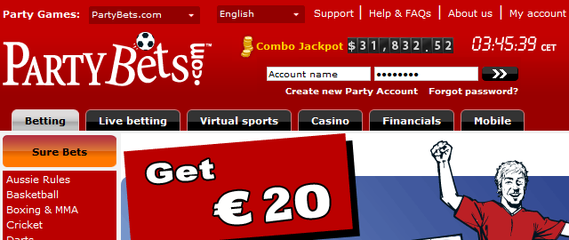 Partybets Betting Bonus