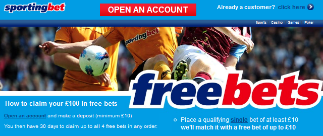 Sportingbet Betting Bonus